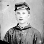 Portrait of a young man during the Civil War
